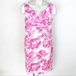 Adrianna Papell floral sleeveless shift dress A059